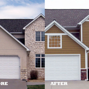 Re-sided Midwest Homes: Before and After