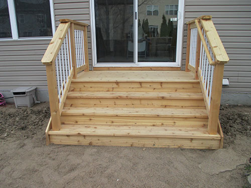 Small Wood Deck Build In Chaska Iron River Construction